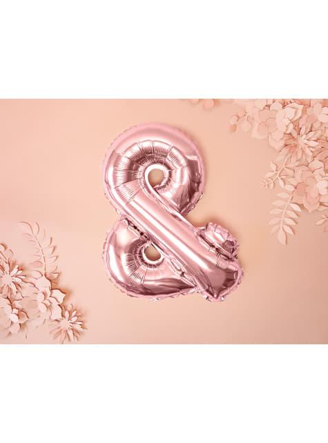 & Folie ballon in rosé goud
