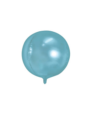 Foil balloon in the shape of a ball in sky blue