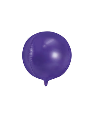 Foil balloon in the shape of a ball in violet