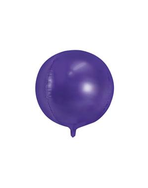 Pallonmuotoinen folioilmapallo violettina