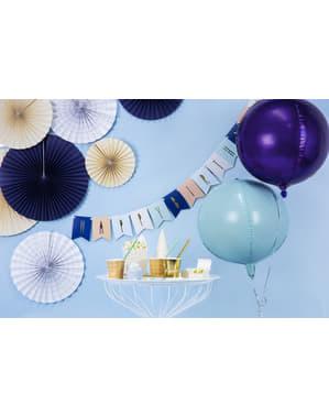 Fioletowy balon foliowy Kula