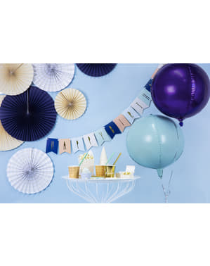 Globo de foil con forma de balón violeta
