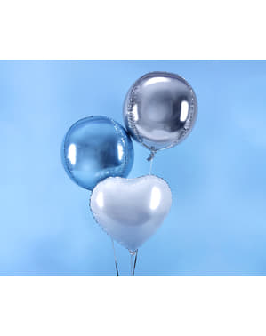Srebrny balon foliowy Kula