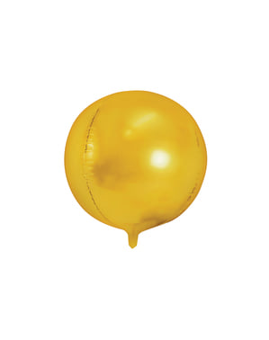 Foil balloon in the shape of a ball in gold