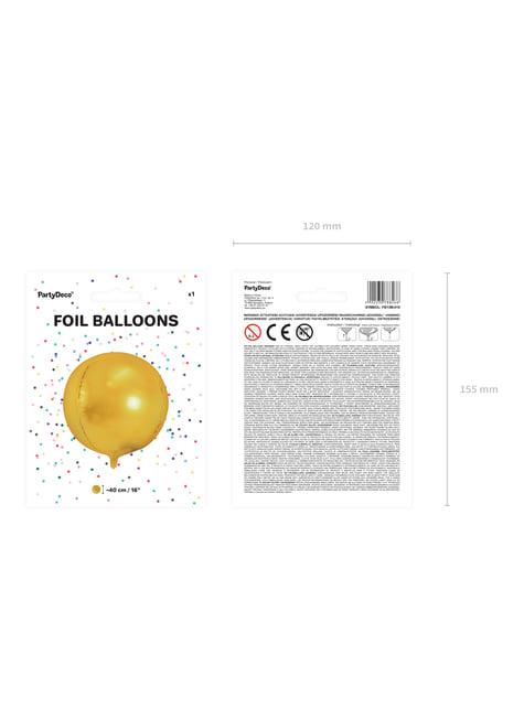 Globo de foil con forma de balón dorado - para tus fiestas