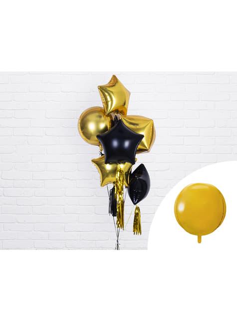 Globo de foil con forma de balón dorado - barato