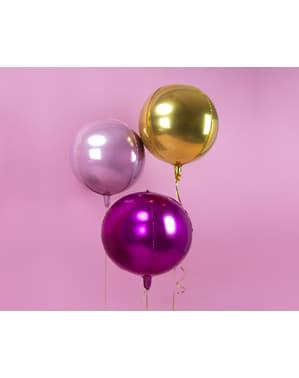 Ballon aluminium en forme de bulle rose léger