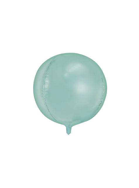 Globo de foil con forma de balón menta