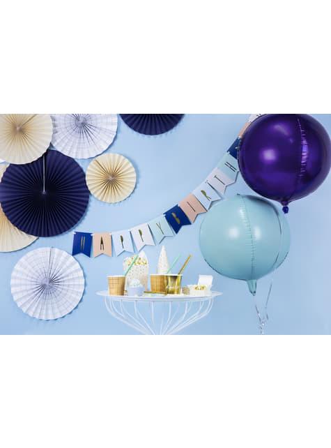 Globo de foil con forma de balón menta - para tus fiestas