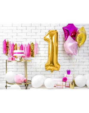 "Fóliový balónek číslo ""1"" zlatý, 86 cm"
