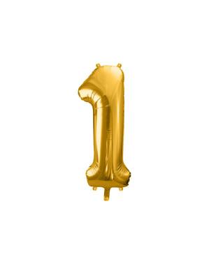 ゴールドナンバー「1」箔バルーン、86センチメートル