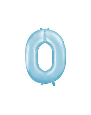Jasnoniebieski balon foliowy Cyfra