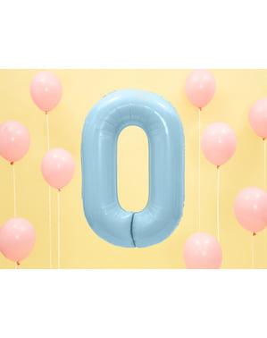 """Fóliový balónek číslo """"0"""" světlemodrý, 86 cm"""
