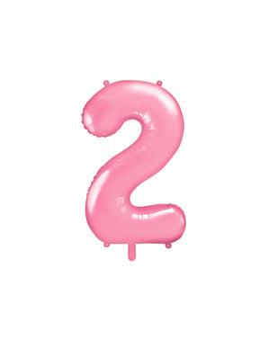 Różowy balon foliowy Cyfra