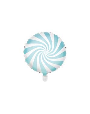 Ballon aluminium en forme de bulle bleu clair