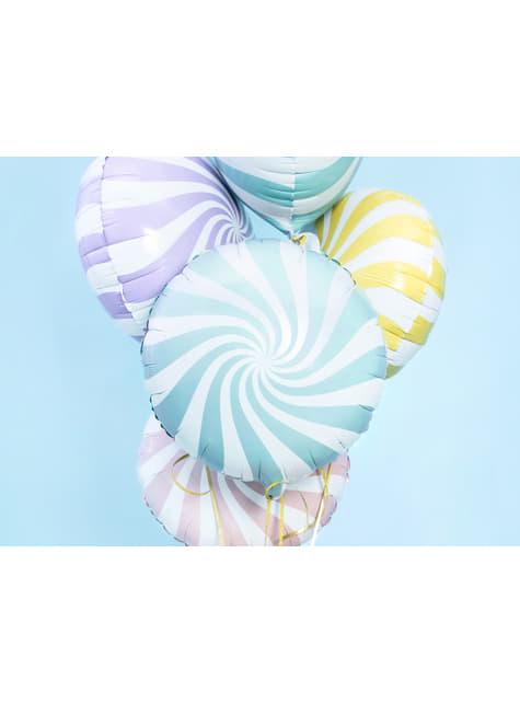 Globo de foil con forma de balón azul claro - para tus fiestas
