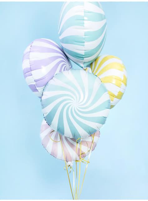 Globo de foil con forma de balón azul claro - barato