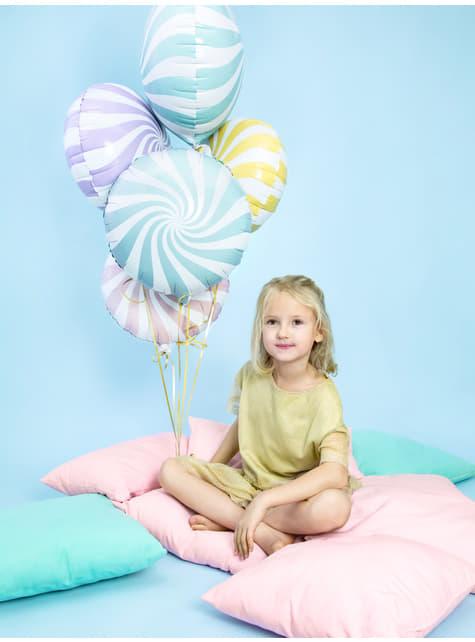 Globo de foil con forma de balón azul claro - comprar