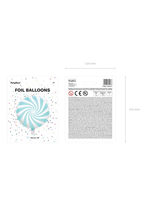 Globo de foil con forma de balón azul claro - para decorar todo durante tu fiesta