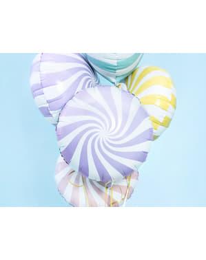Liliowy balon foliowy Kula