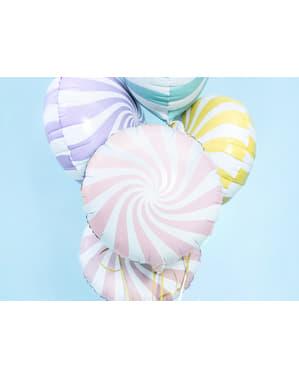 Folie ballon in de vorm van een bal in lichtroze