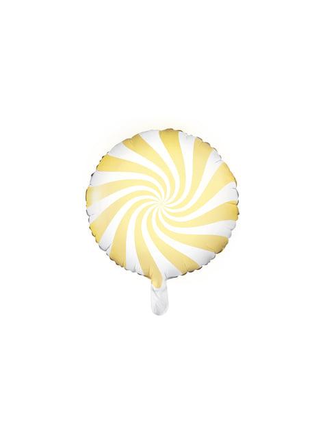 Globo de foil con forma de balón amarillo claro