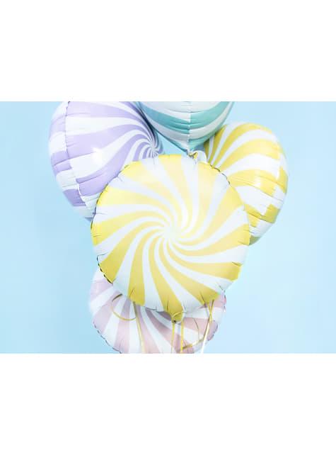 Globo de foil con forma de balón amarillo claro - para tus fiestas