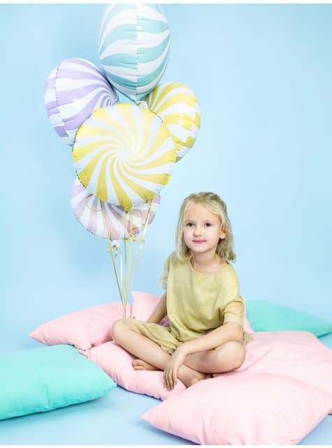 Globo de foil con forma de balón amarillo claro - comprar