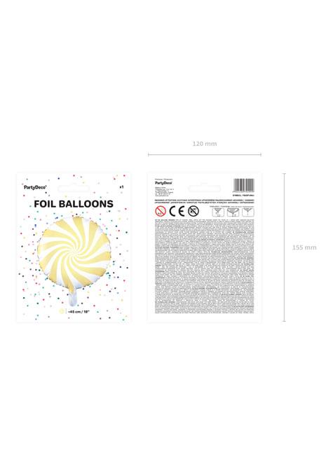 Globo de foil con forma de balón amarillo claro - para decorar todo durante tu fiesta
