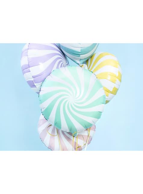 Globo de foil con forma de balón verde menta - para tus fiestas