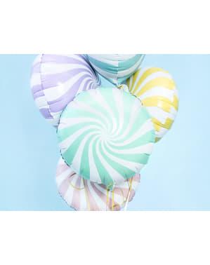 Miętowo-zielony balon foliowy Kula