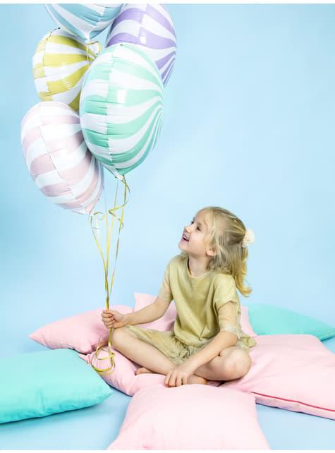 Globo de foil con forma de balón verde menta - para niños y adultos