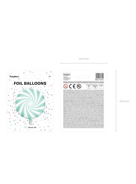Globo de foil con forma de balón verde menta - para decorar todo durante tu fiesta