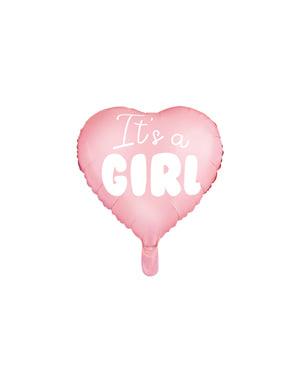 Фольга «Це дівчинка» повітряна куля у формі серця