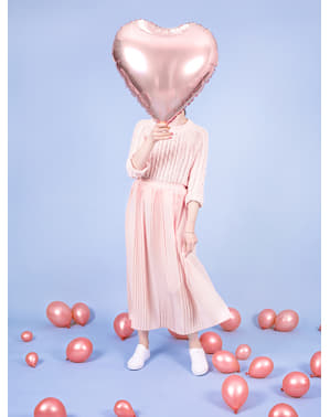 Foil balloon in the shape of a heart in rose gold