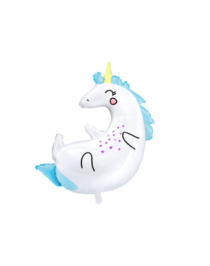 Foil balloon of a unicorn measuring (70x75cm) - Unicorn Collection