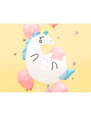 Tek boynuzlu at ölçme folyo balon (70x75cm) - Unicorn Koleksiyonu