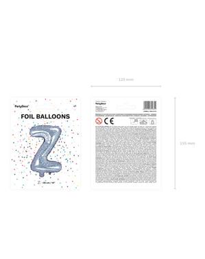 Bokstaven Z Folieballong i Sølv Glitter