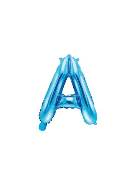 Globo foil letra A azul