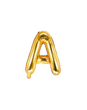 Letter A Foil Balloon in Goud