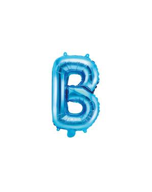 B-kirjaimen muotoinen foliopallo (sininen) (35cm)
