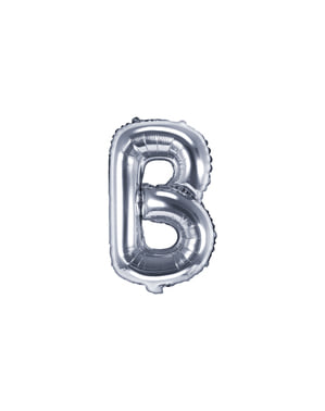 Globo foil letra B plateado (35 cm)