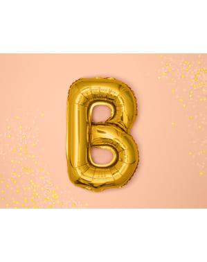 Letter B Foil Balloon in Gold (35cm)
