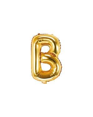 Letter B Foil Balloon in Goud (35cm)