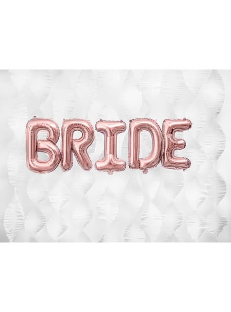 Globo foil letra B oro rosa (35 cm) - para tus fiestas