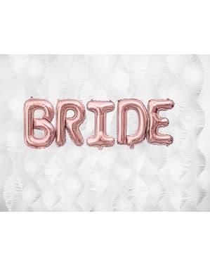 Letter B folie ballon in rosé goud (35cm)