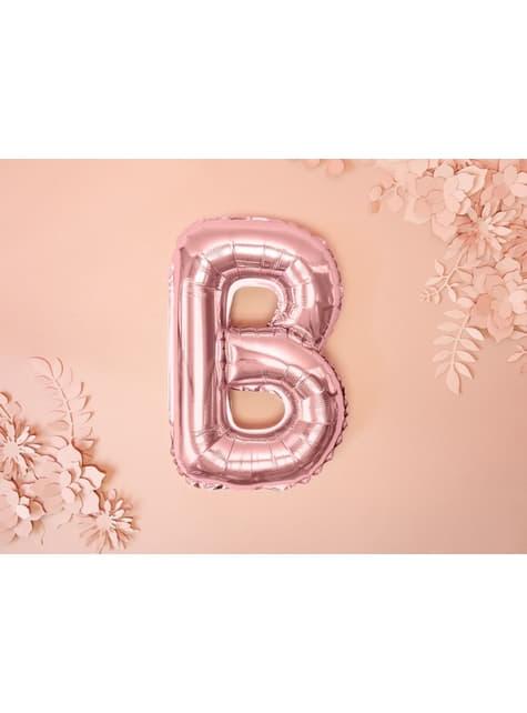 Globo foil letra B oro rosa (35 cm) - barato