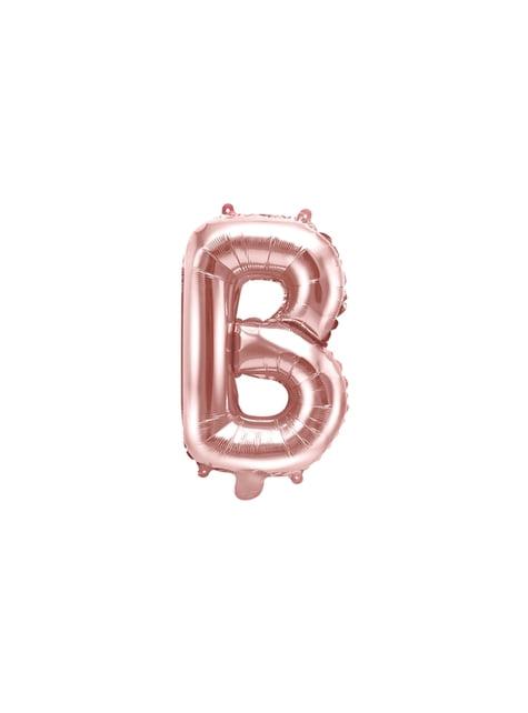 Globo foil letra B oro rosa (35 cm) - comprar