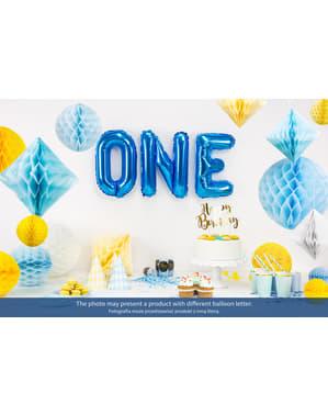 Balão foil letra C azul