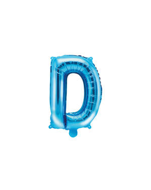 Letter D Foil Balloon in Blue